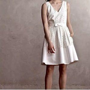 NWT Erin Featherson Anthropologie Bow Waist Dress